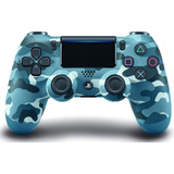 Joystick Control Inalambrico Ps4 Original Azul Camuflado