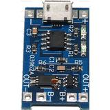 Modulo Carga Y Desc Micro Usb Celdas Li Ion 18650 Tp4056 Emn