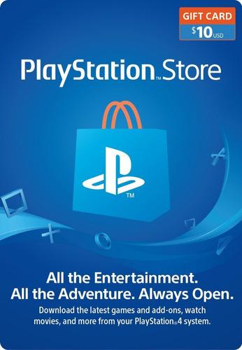 Tarjeta Playstation Network 10 Usd Psn Usa Ps4 | Mvd Store