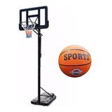 Aro Tablero De Basketball Deportivo Regulable Base Y Pelota