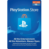 Playstation Network 10 Usd Psn Usa Ps4 Ps3 - Globalpingames