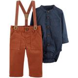 Set Carters Camisa Bodie Pantalon Tiradores Mvd Kids Bebe