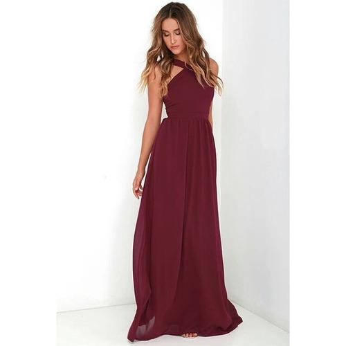 Vestidos largos color bordo