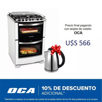 Cocina A Gas Doble Horno Electrolux Grill Timer 56dtb Dimm