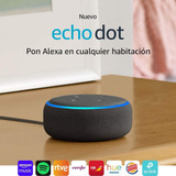 Echo Dot Amazon Alexa 3da Gen. Español Charcoal Laaca