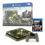 Consola Playstation 4 1tb Slim Call Of Duty Wwii  220v