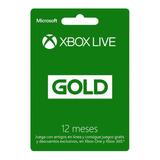 Xbox Live 12 Meses Suscripción Gold - Globalpingames