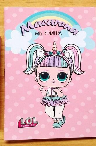 Libritos Para Colorear Muñecas Lol Souvenirs En Venta En