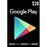 Tarjeta Google Play 20 Usd Usa   Mvd Store
