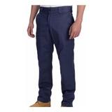 Pantalón Básico De Trabajo Azul - Mundo Trabajo