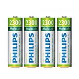 Pilas Recargables Philips Aa Pack X 4 2300 Mah Super Oferta!