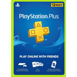Playstation Plus Psn  12 Meses 1 Año - Juga Online Fifa 20!!