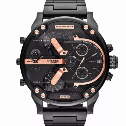 ec14fd1ab483 Reloj Diesel Negro Original Dz7312