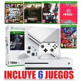 Xbox One S 1 Tera Nuevas Con 6 Juegos Incluidos + Garantía