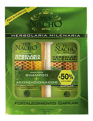 9aec80ad Tio Nacho Herbolaria Champú + Acondicionador Al 50% - Combo
