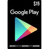 Tarjeta Google Play 15 Usd Usa   Mvd Store