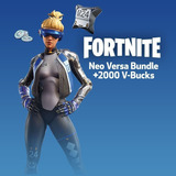 Fortnite Pack Neo Versa +  2000 Pavos Ps4 Psn Usa