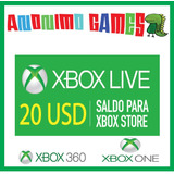 Xbox Live Gift Card Compras 20 Usd Usa