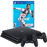 Playstation 4 Pro Ref. Fifa 19 + 2 Joystick, Macrotec