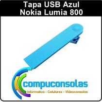 Tapa Usb Trasera Azul Nokia Lumia 800