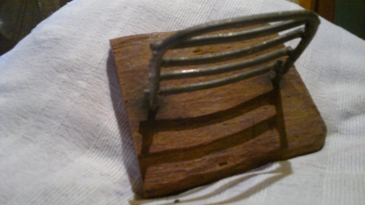 Accesorios para ba o artesanal madera y hierro 950 00 for Accesorios de bano precios