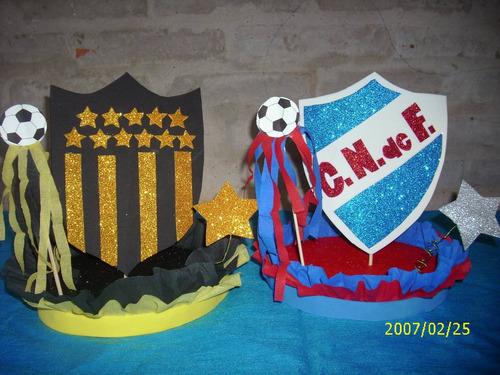 Adornos De Torta O Centros De Mesa De Peñarol O Nacional