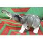 Antigua Escultura Elefante Miniatura Porcelana Saxe