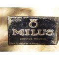 Antigua Publicidad Relojes Milus