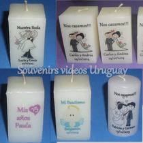 Souvenirs Velas Personalizadas,15 Años, Casamiento,bautismo