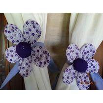 Sujeta-cortinas Flor