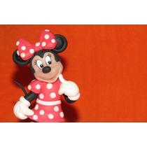 Adorno Torta Minnie Mouse Porcelana Fria Cumpleaños Disney