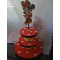 Minnie. Bases Para Cupcakes O Souvenirs, Centros De Mesa