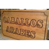 Carteles En Madera-para Nombres De Casas O Indicadores