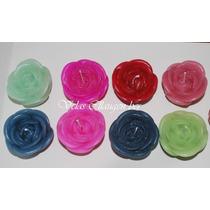 Velas Artesanales 15 Años Rosas