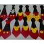 Corbatas Cotillon Mickey Minnie Goma Eva