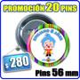 Pins Promocion 20 X 260. Cumpleaños,souvenir. Personalizados