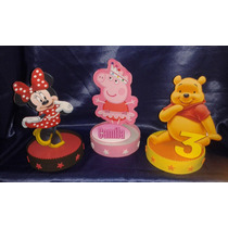 Centro De Mesa, Souvenirs Infantiles Minnie,peppa Pig,winnie