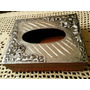 Porta Pañuelos Kleenex Con Tapa De Aluminio Repujado