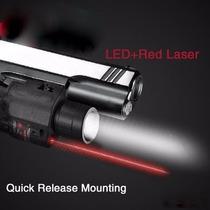 Mira Laser Punto Rojo Con Led 200 Lumenes