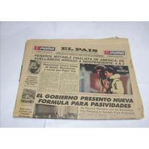 Diario El Pais Peñarol 4 Independiente 2 Libertadores 1987