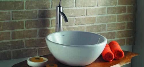 Bachas Loza Para Baño:Bachas De Loza En Blanco Y Beige / Piletas Para Baño Incepa – U$S 89