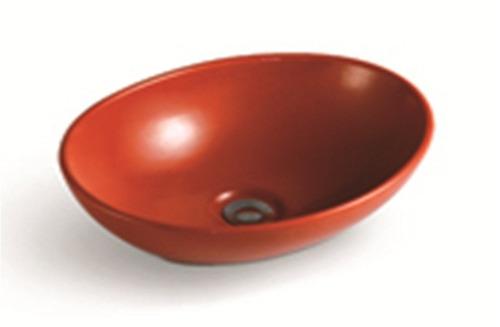 Bachas Loza Para Baño:Bachas De Loza Ovaladas De Colores / Piletas Para El Baño – U$S 106
