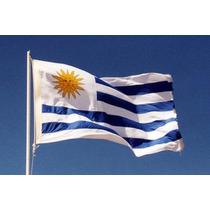 2 Bandera Uruguay 1,50x90c Más 1 De Auto $280 Envío Incluído
