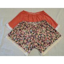 Shorts En Seda Fria Y En Modal Estampado
