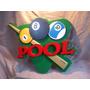 Cartel Pool Bola 8 Cartel Corporeo Exclusivo !!!!