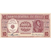 Billete 10 Pesos Chile 1960 Conmemorativo Club De Leones S/c