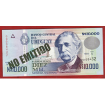 Fv * Billete - Uruguay 1989 * N$ 10.000 # 31 A Tinta Verde
