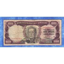 Fv * Billete - Uruguay 1967 1000 Pesos #9a 1.2.1
