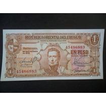 Billete De 1 Peso Banco Republica Oriental Del Uruguay 1939