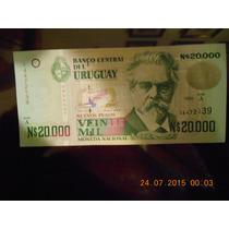 Billete Uruguay $ 20.000. No Criculó. Nuevo